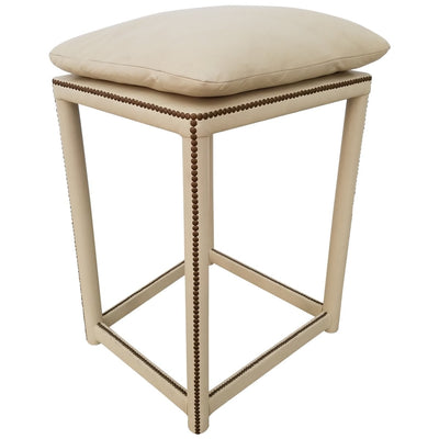 LEATHER WRAPPED PERCHING STOOL - SHOWROOM SAMPLE