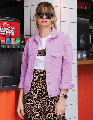 Denim Jacket in Lilac