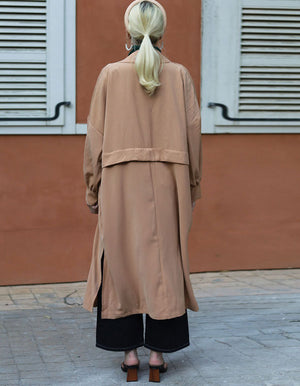 Omg The Most Amazing Oversized Coat In Brown
