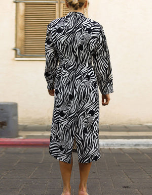 Copy of Wild Zebra Print Dress In Withe