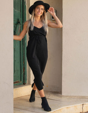 Midi Knitted Black two parts Suit
