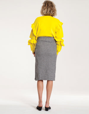 Yellow Lemon Tree Ruffle Sweater