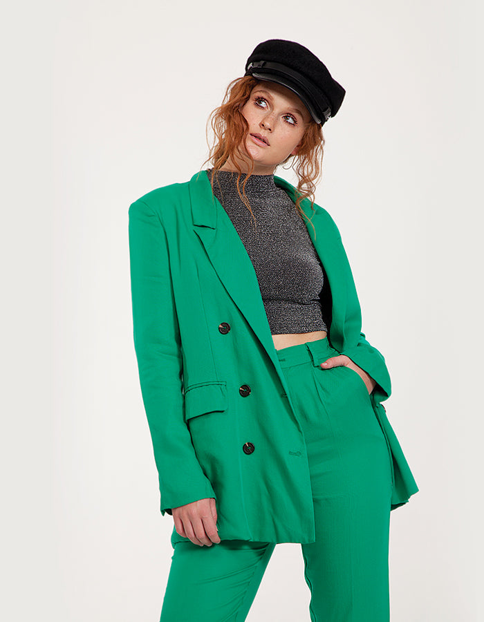 Oversized Blazer in Green
