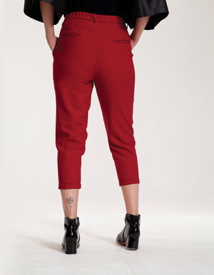 Tailored Pants in Bordeaux