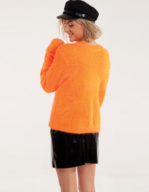 Sparkly & Beautiful Orange Sweater