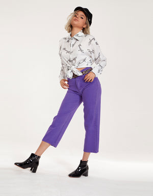 Purple Stylish Denim