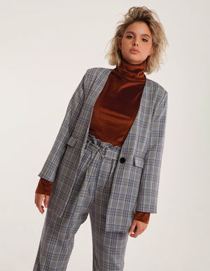 Tailored Checked Blazer