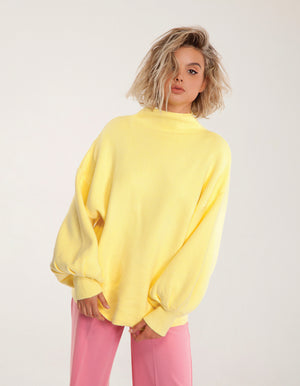 Bell Sleeve Sweater in Banana Yellow