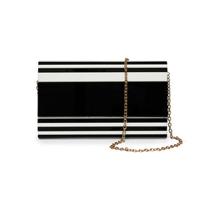 Plastic Barcode Stripes Black and White Box Bag