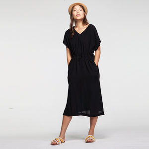 Weekend Black Linen Dress