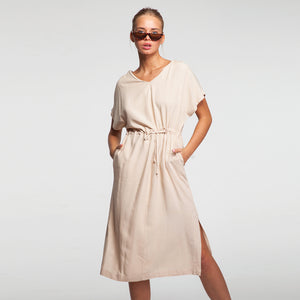 Weekend Beige Linen Dress
