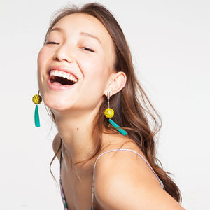 Wooden Tropicana Earrings