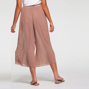 Chiffon Pants in Beige