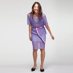 Crochet Suit in Purple