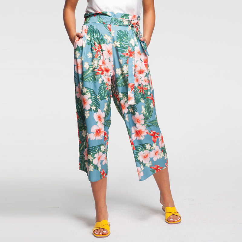 Tropicana Pants in Turquoise