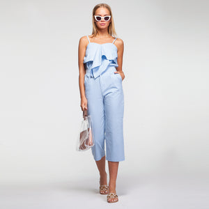 Linen Suit in Light Blue