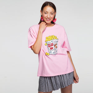 Popcorn  T-Shirt in Pink