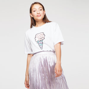 Ice Cream T-Shirt in White