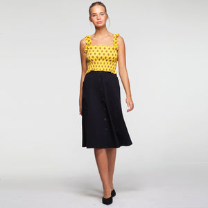 Smock Off Shoulder Dot Top in Yellow