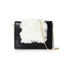 B&W Faux Leather & Fur Bag