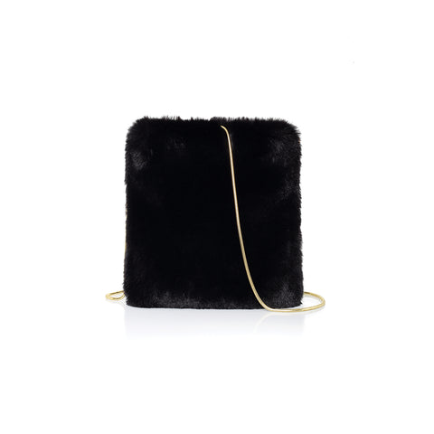 Transperent Black Envelope Bag  with Rivets