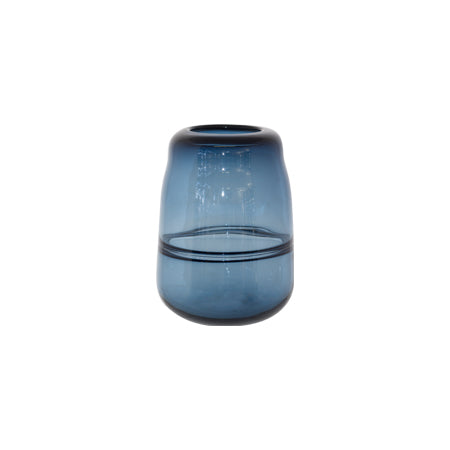 Blue Iridescent Vase