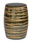Garden Stool Wood Grain Green