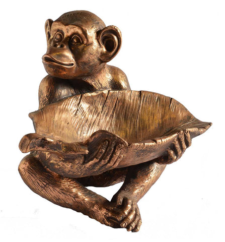 Resin Monkey Bowl Copper