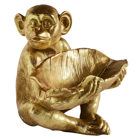 Resin Monkey Bowl Gold