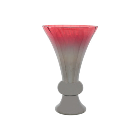Cranberry Smoke Footed Vase