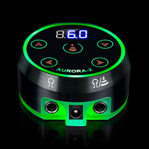 Aurora II Dual Machines Tattoo Power Supply