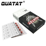 Round Liner #10 BugPin Long Taper QUATAT Tattoo Needle Cartridges Angled Cut