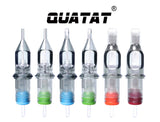 Super Tight Round Liner #12 Extra Long Taper QUATAT Tattoo Needle Cartridges Angled Cut