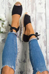 Espadrilles Tie Up Sandals