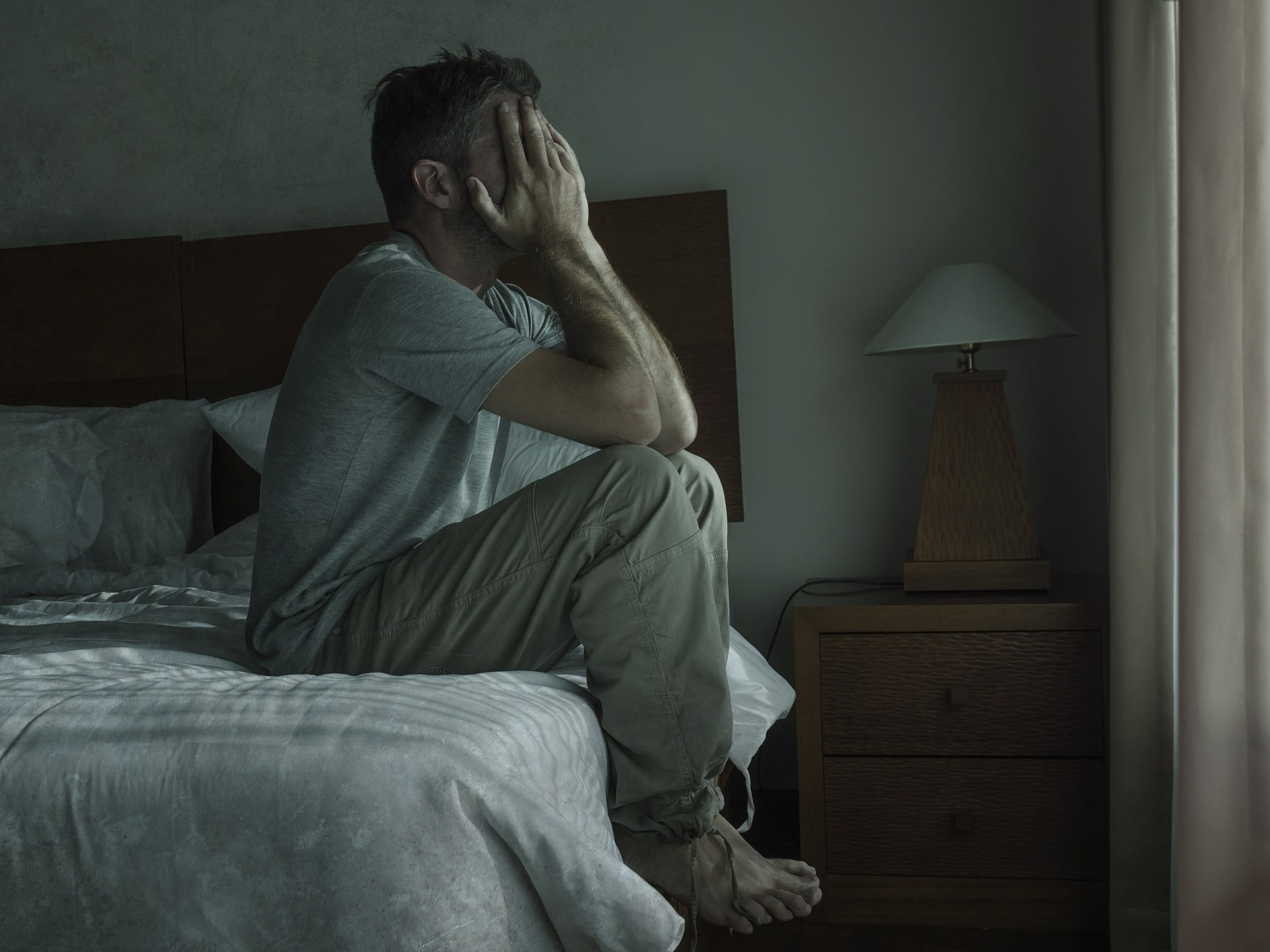 man struggling with chronic fatigue syndrome