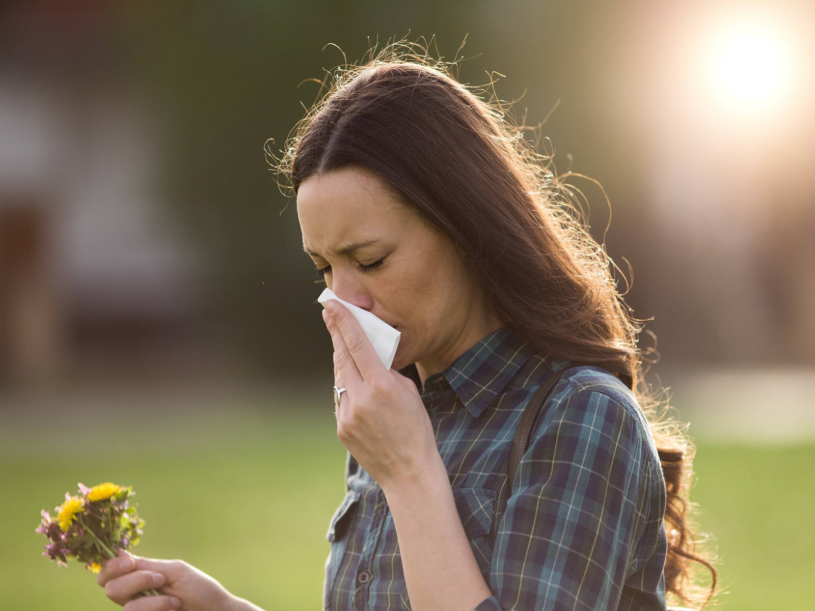 woman suffering from seasonal allergies