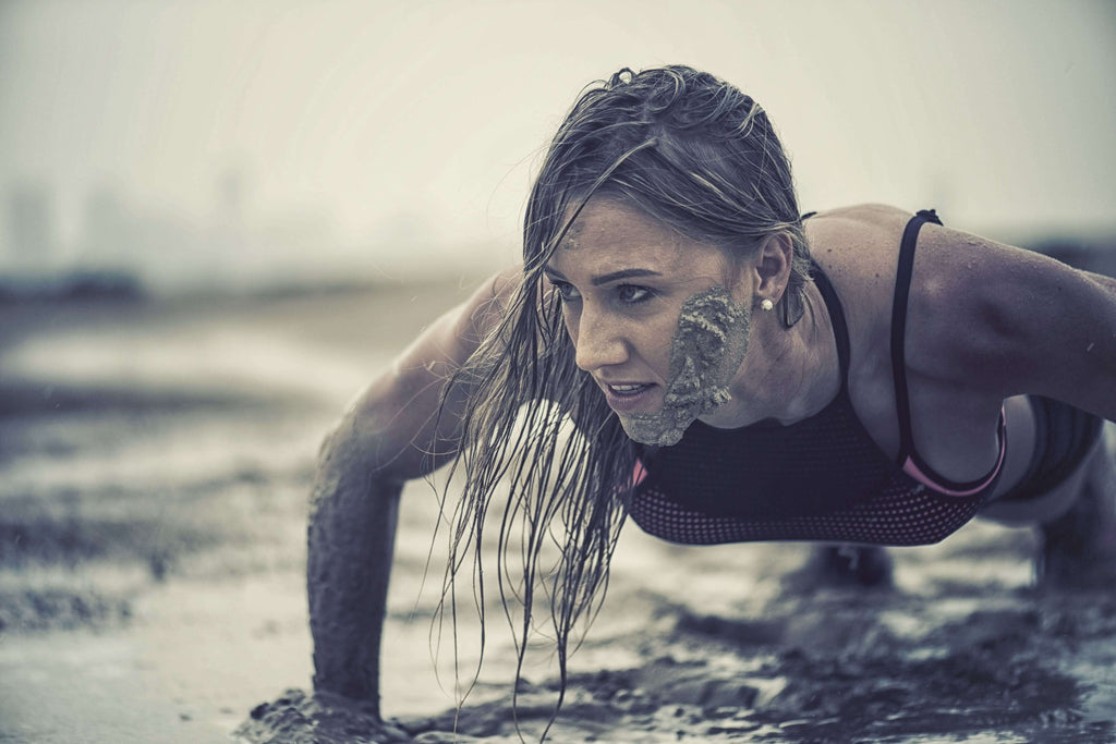 woman getting up from the mud depicting the effects of cbd