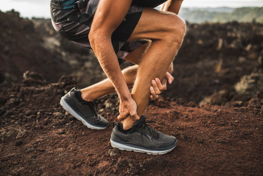 runner struggling with ankle joint pain