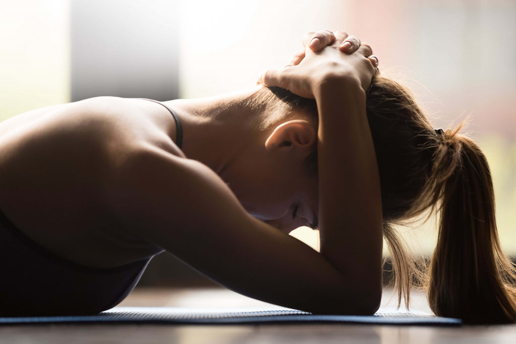 woman tired from working out
