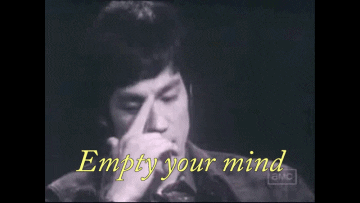 empty your mind message