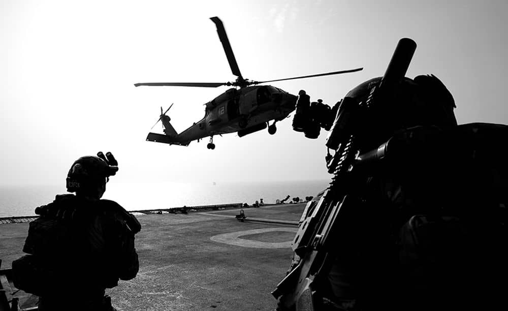 veterans flying a helicopter