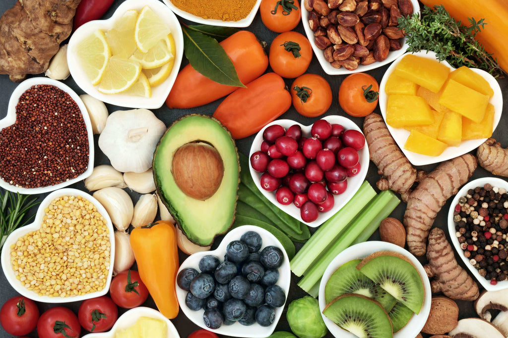 fruits and vegetables depicting healthy diet