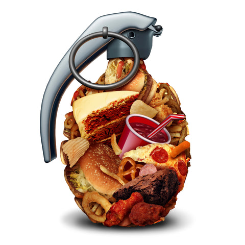 fatty foods showing the danger of high blood pressure