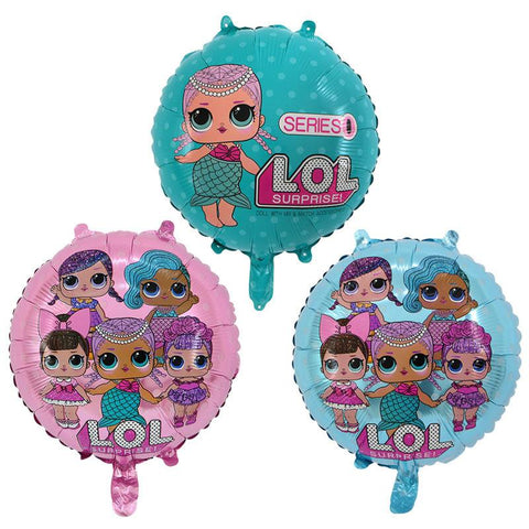 3x18 inch Doll LOL Surprise Helium Foil Balloon Party Decoration