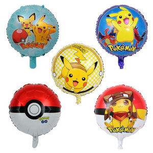 5x18 inch Pokemon Helium Foil Balloon Party Decoration