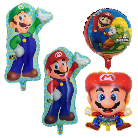 4x18 inch Super Mario And Luigi Helium Foil Balloons Party Decoration