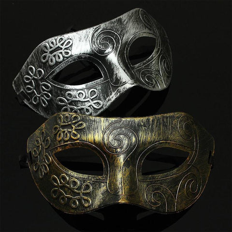 Antique Silver Gold Venetian Party Mask