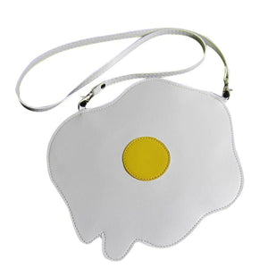 Cute Fried Egg Shoulder Bag Purse for Kids