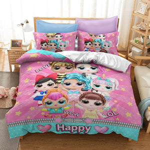 3D LOL Surprise Duvet Quilt Cover Bedding Set With Pillowcases