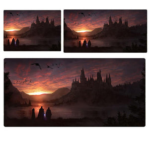 Harry Potter Hogwarts Sunset Mouse Pad Computer Desk Pad Mat 3 sizes